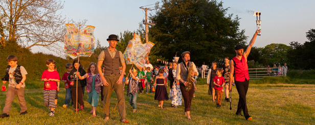 Leading the Lantern Parade, Waistcoats from Sixpenny Handley First School