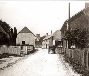Sixpenny Handley High Street with Cart