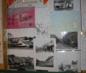 History Display in pre-school with resources from Priest's house museum