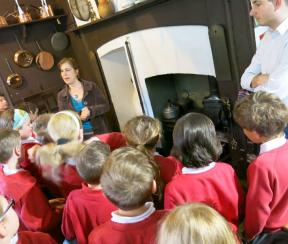 Around the fire in the Victorian Kitchen