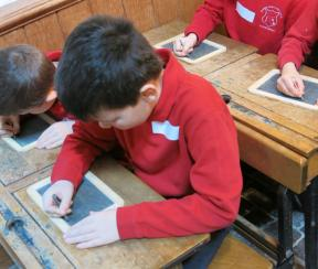 Learning with Victorian slate