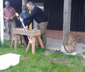 Wooden cartwheel making